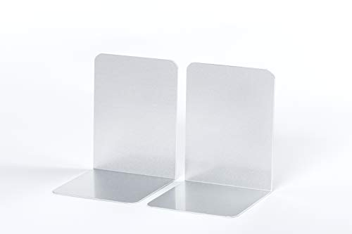 Maul Buchstützen Aluminium, 10 x 10 x 13 cm, Silber, 1 Paar