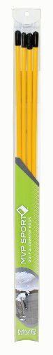MVP Sport Collapsible Training Alignment Rods, Yellow