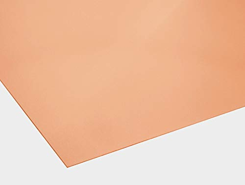 Kupferblech 0,7mm dick - Kupfer Design - Zuschnitt nach Maß (500 mm x 50 mm)