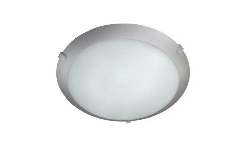 Massive Plafón 770130187 - Lámpara (Dormitorio, Salón, Gris, IP20, Cepillado, Blanco, Alrededor)