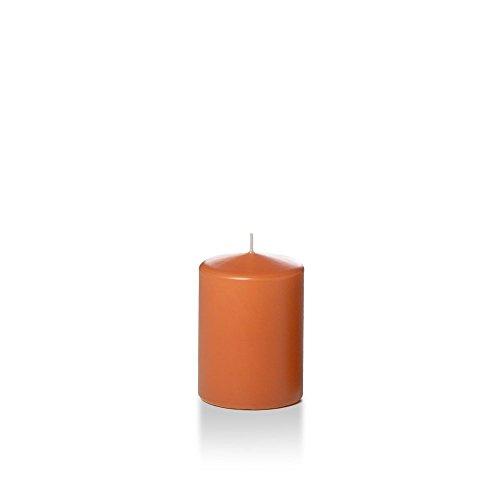 Yummi 3' x 4' Sienna Round Pillar Candles - 3 per Pack