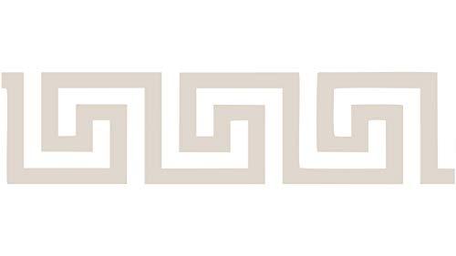BORDO VINILICO ADESIVO 5/10x500 cm - ALTEZZA 5/10 CM (Greca 4 beige 10 cm)