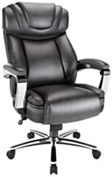 Realspace Axton Leather High Back Big Tall Chair Dark Gray