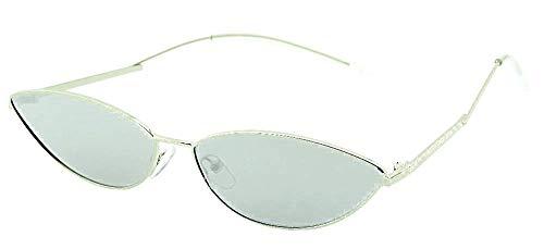 Inception Pro Infinite Gafas de sol gata - mujer - ojos de gato - mariposa - alargadas - finas - retro - vintage - moda - trampa - lente plateada espejada - montura plateada - idea original