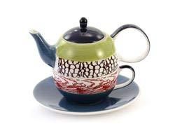 """Tea for one Set """"Tolga"""" Keramik, 4-teilig Kanne: 0,4 l, Tasse: 0,2 l"""