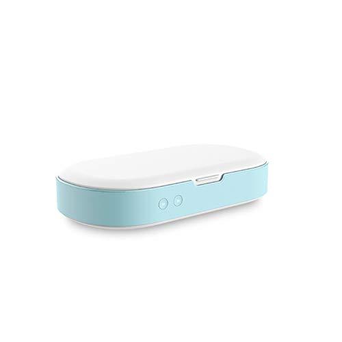 Uv-shampoo Gsm-sterilisator Led-desinfectieapparaat met aromatherapie Veilige en milieuvriendelijke smartphone Sieradenhorloge Multifunctionele desinfectiedoos,Blue