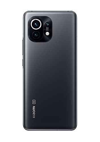 """Xiaomi Mi 11 5G - Smartphone 8GB+128GB, Écran 6,81"""" WQHD+ AMOLED DotDisplay, Snapdragon 888, Triple Camera 108MP+13MP+5MP, 46000mAh, NFC, Gris de Minuit (Version officielle + 2 ans de garantie Xiaomi)"""