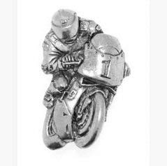 Gift Boxed Pewter Racing Bike Badge pin or Brooch Gift for Scarf, Tie, Hat, Coat or Bag