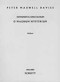 O Magnum Mysterium: 2 Instrumental Sonatas. op. 13a. Flöte, Oboe, Klarinette (B), Fagott, Horn, Viola, Violoncello und Schlagzeug (7 Spieler). Partitur.