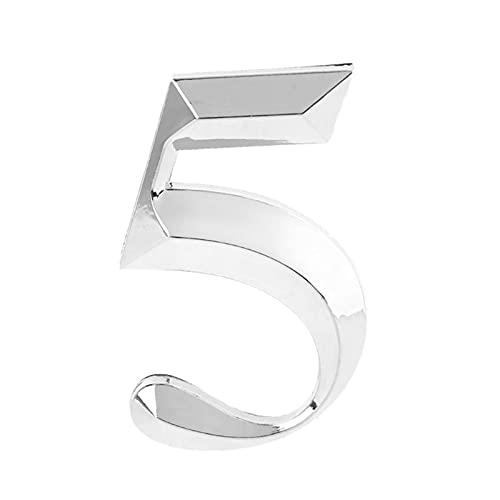 BENOHAOH DIY 5 Cm Casa Números De 0 A 9 Adhesivos Pegatinas De La Puerta Signo para El Hotel De Apartamentos De Oficina, Fácil De Leer.Perfecto para Tu Puerta Principal (Color : Ivory)