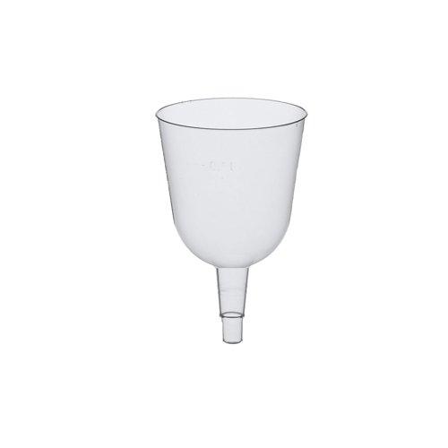 Papstar Stiel-Gläser / Sekt-Gläser, Oberteile für Weißwein (50 Stück) PS 0.1 l, ø 6.7 cm, 10.7 cm, glasklar, ohne Untersatz, durchsichtig, besonders geeignet für Grillparty und Gartenparty, #12184