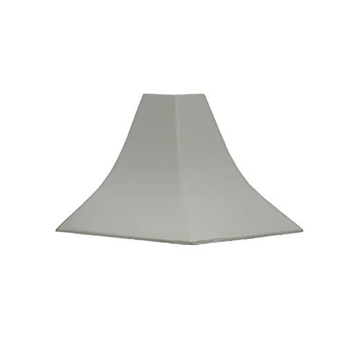 DQ-PP WINKELLEISTE AUßENECKE | Granit hell | 23 x 23mm | PVC | Küchenleiste Arbeitsplatte Abschlussleiste Leiste Küche Küchenabschlussleiste Wandabschlussleiste Tischplattenleisten