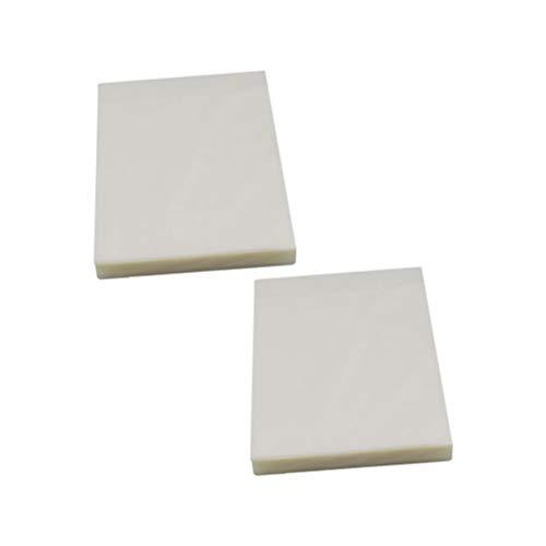 Supvox 200 Pcs Film de Plastification Thermique en Plastique Papier Plastifieuse Feuilles pour Photo Papier Fichiers Carte Photo,9.7 x 6.7 x 0.01 cm (ne contient pas de papiers)
