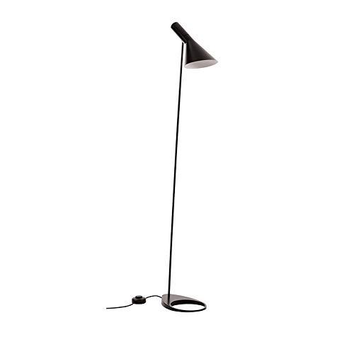 SKSNB Stehlampe, Postmodern Design AJ Stehleuchte Schwarz Metall Halterung Licht Für Wohnzimmer Schlafzimmer E 27 LED Lampe Schlafzimmer Dekoration