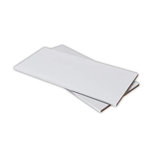 Stella Trading Juego de 2 armarios Blancos a Juego con Las Puertas correderas Medina & Cadiz 105 x 2,2 x 42 cm (Ancho x Alto x Profundidad), Material de Madera, 2 estantes.
