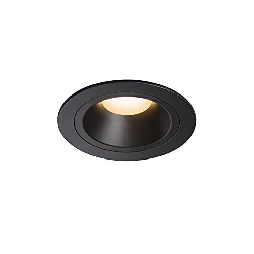 SLV Numinos DL M/LED, Foco de Techo, lámpara empotrable, iluminación Interior, IP20/IP44, 2700 K, 17,55 W, 1460 LM, Color Negro, 55 Grados