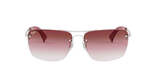 Ray-Ban 91280T Gafas de sol, Silver, 59 para Hombre