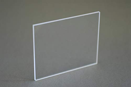 PLAST ZONE- Lastra in plexiglass trasparente colata spessore 4mm (1000 X 1000 mm)