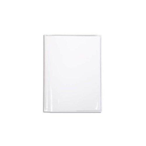 Calligraphe (gamme scolaire Clairefontaine) 73001C - Un protège-cahier Cristal 17x22 cm 12/100ème avec porte-étiquette, en PVC (plastique) transparent lisse, Incolore