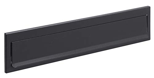 Arregui C614 Bocacartas de Acero, 342 x 73 mm, Negro