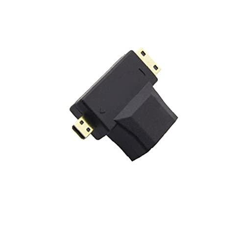 Mini-HDMI + micro-HDMI Micro-HDMI de oro profesional a HDMI Convertidor de adaptadores