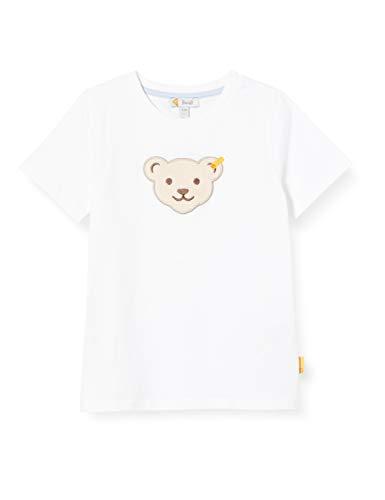 Steiff Jungen T-Shirt, Weiß (Bright White 1000), (Herstellergröße: 122)