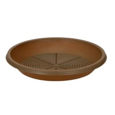 WEB world electronic business Plato para maceta, diámetro 25,5 cm, marrón