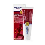 Equate Ultra Strength Pain Relieving Cream Muscle Rub, 4-Ounce Tube (Pack of 3)
