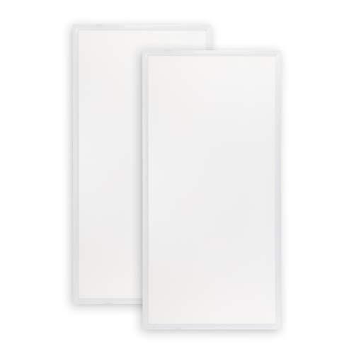 POPP® Panel LED PRO con lente PMMA, 220V, 4000-6000Lm, IP20, Blanco, 60x60cm, 30x120cm,60x120cm (PACK 2) (60x120cm 60W 6000Lm, 4000K)