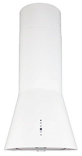Inselhaube 50 cm Weiss 700m3/h Aktivkohlefilter Umluft oder Abluft höhenverstellbar bis 1,2m Dunstabzugshaube mit Timer 2xLED Beleuchtung Haube Küche Dunstabzugshaube Galaxy