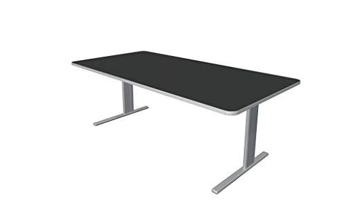 Froschkönig24 Escritorio Unic, varios tamaños, mesa de oficina, color antracita, tamaño del tablero: 200 x 100 cm