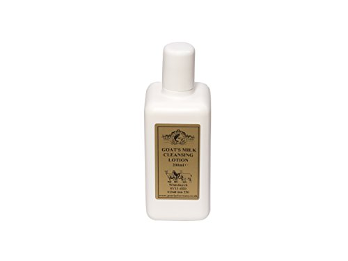 Lotion Nettoyante Lait de Chèvre 200ml. Pour le psoriasis eczéma peau sèche Dermatite rosacée Sensible, fabriqué par Elegance Natural Skin Care en Grande-Bretagne