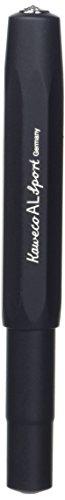 Kaweco AL Sport Schwarz Gel- / Kugelschreiber inklusive 0,7 mm Rollerball Tintenroller Mine für Linkshänder & Rechtshänder im klassischen Design mit Keramikkugel I Gelroller 13,5 cm