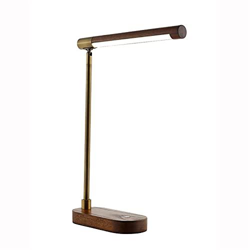 American retro simple LED de hierro de madera de madera ajustable de la lámpara de mesa de escritorio individual Lámpara de la oficina de la oficina de la oficina de la oficina de la oficina de la ofi