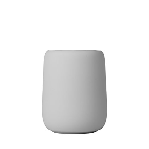 Blomus Sono Zahnputzbecher, Keramik, Silikon, Micro Chip, H 11 cm, Ø 8,5 cm, V 0,3 l
