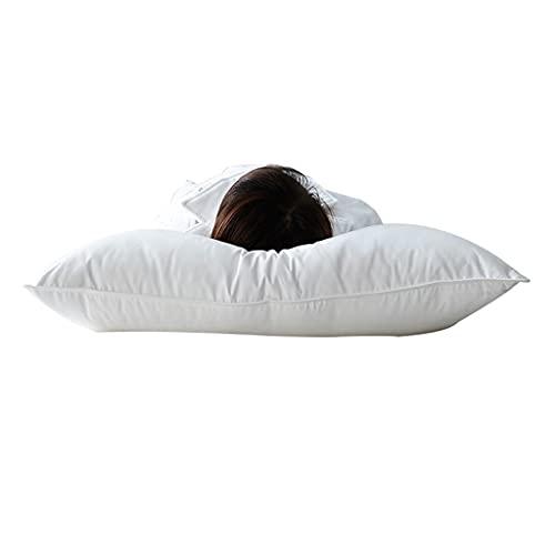 Almohadas para Almohadas De La Cama para Dormir por Almohadas De Calidad Alternativa, Almohadas para Durmientes Laterales Y Traseros Suaves Y De Apoyo (Color : Blanco, Size : 74 * 48 * 24cm)