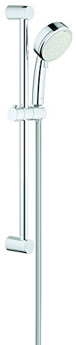Grohe 26076002 New Tempesta Cosmopolitan 100 2 Spray Shower Rail Set, Starlight Chrome