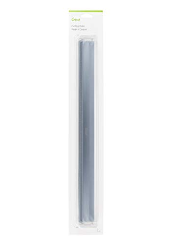 """Cricut Metal Ruler - Safety Cutting Ruler for Use with Rotary Cutters, Cricut TrueControl Knife, Xacto Knife - Great For Quilting, Scrapbooking, Crafting and Paper Cutting - 18"""", [Blue]"""