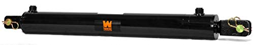 WEN CC2024 Clevis Hydraulic Cylinder with 2 Bore and 24-inch Stroke, Black