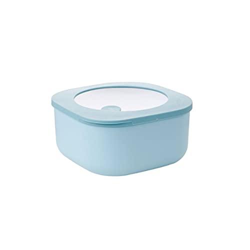CHENCfanh Fiambrera Contenedor de Almacenamiento Plegable con Tapas, congelador de microondas de Cocina y lavavajillas, Disponible en Cuatro Colores (Color : Blue)