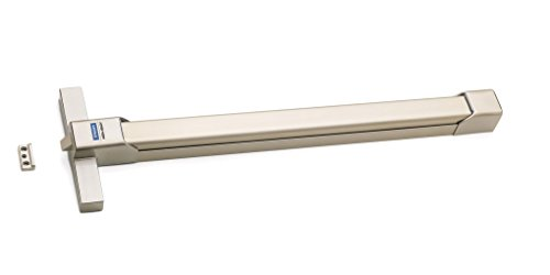 Tesa Assa Abloy TOP1E808SI16 Barra antipánico de embutir, Satinado-Inox, Puerta 800 mm