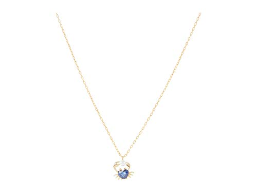 Kate Spade New York Sea Star Crab Mini Pendant Necklace Blue One Size