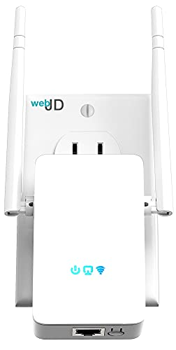 Superboost WiFi Extender Internet Range Booster up to 3000 sq.ft. - Newer 2021 Wi-Fi Signal Amplifier Repeater with Ethernet Port & Access Point Mode, 1 Touch Setup, Alexa Devices Compatible, 5 Modes