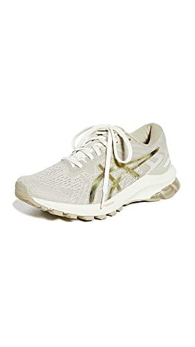 ASICS Women's GT-1000 10 Running Shoes, 7.5, Cream/Putty