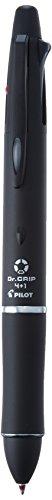 多機能ペン ドクターグリップ 4+1 4色ボールペン0.7mm+シャープ0.5mm【ブラック】 PB