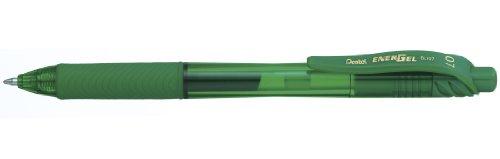 Pentel BL107-DX - Bolígrafo Energel retráctil con punta de bola. Escritura en color verde