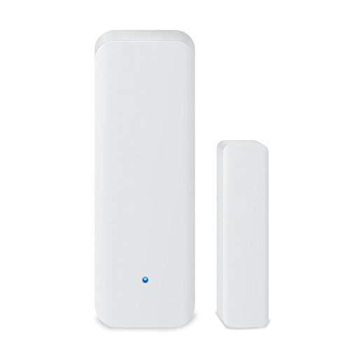 Laoonl - Sensor de puerta con wifi inteligente, sensor de puerta y ventana de seguridad, alarma de seguridad para casa, oficina, revista, color blanco