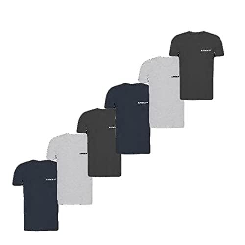 LEGEA, 6 Tshirt Uomo Basic in Cotone Elasticizzato Collo a V. Colore Assortito Taglia 6-XL