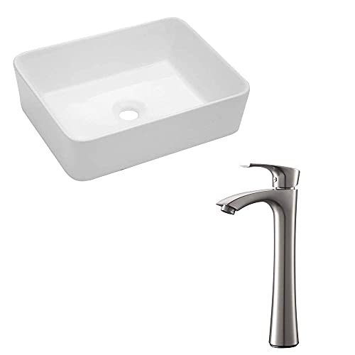 Lordear 19'x15' bathroom vessel sink and faucet combo modern rectangle...
