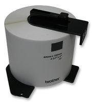 Brother DK11202 - Etiquetas precortadas para envíos (papel térmico), 300 etiquetas blancas de 62 x 100 mm, Para impresoras de etiquetas QL